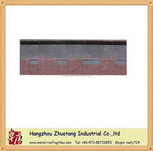 Hot sale! Double layer asphalt shingle tile--Asia Red