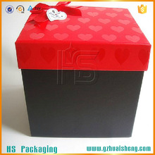 Giant magnetic closure cardboard paper gift box / top and bottom paper gift box