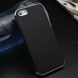 2015 Wholesale China New Case Cross pattern leather back cover for iphone5g
