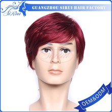 China supplier anna irish dance wig,bride buns red male wig,display head for wig