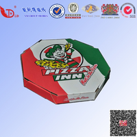 Corrugated kraft paper pizza box with OEM logo for fast food packaging