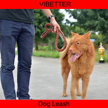 DLH-011 cow leather dog leash and collar set wholesale cheap price dog leash and collar for big dog