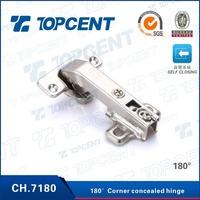 Special angle corner 180 degree cabinet hinge