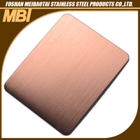 Hairline stainless steel water resistant wall panels
