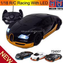 Car racing games for boys VEYRON Radio Remote Control Car LED Lights 1/18 New