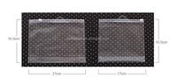 Transparent clear vinyl pvc zipper bags
