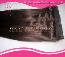 """Wholesale 100% Finest Quality Soft 18"""" malaysian hair 30 inch hair extension clip in"""