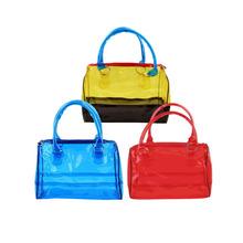 Fashion Woman Jelly Clear Bucket Shoulder Bag PVC 2 in1 Handbag Purse Tote