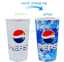 Promotional gift Shenzhen factory 22oz color changing sublimation plastic cup