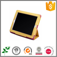 Yellow PU Leather Tablet Cover For Android Tablet PC
