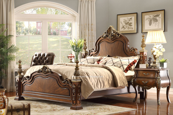 Style am ricain chambre antique palissandre massif chambre for Chambre a coucher usa