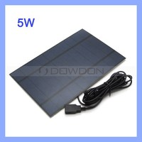 5V 1A Mobile Solar Charger 5W High-effeciency Solar Panel