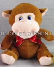Plush monkey for kids, Customised toys,CE/ASTM safety stardard,yellow monkey plush toy