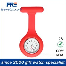 china nurse watch with pin cheap promotional colorful silicone nurse watch wholesales