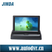 Installation in dashboard foldable tft color security lcd car reverse rearview monitor for cars DC 8-30V Power supply
