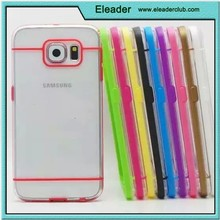 for samsung galaxy s6 Transparent Plastic Flexible tpu Bumper Case Cover