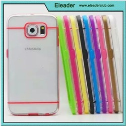 for samsung galaxy s6 Transparent Plastic Flexible tpu Bumper Case Cover