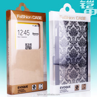 OEM design paper handle iphone case packaging box with PVC window KJ-353