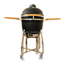 Ceramic charcoal bbq grill 21 inch bbq grill with Stainless steel bracket