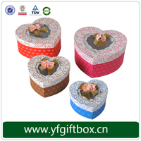 Heart Shaped Box PVC Window Ribbon Decorated Candy Boxes Wholesale Wedding Candy Packaging
