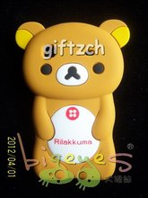 3D bear silicone cell mobile phone cover for iphone4,iphone 4S
