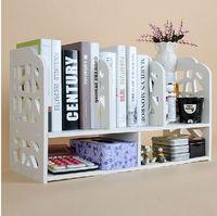 Decorative Corner Carved Pure White Storage Shelf