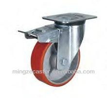 Mingze 810 series type Cast Iron Polyurethane Swivel Industrial Caster