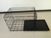 foldable steel dog crate cage
