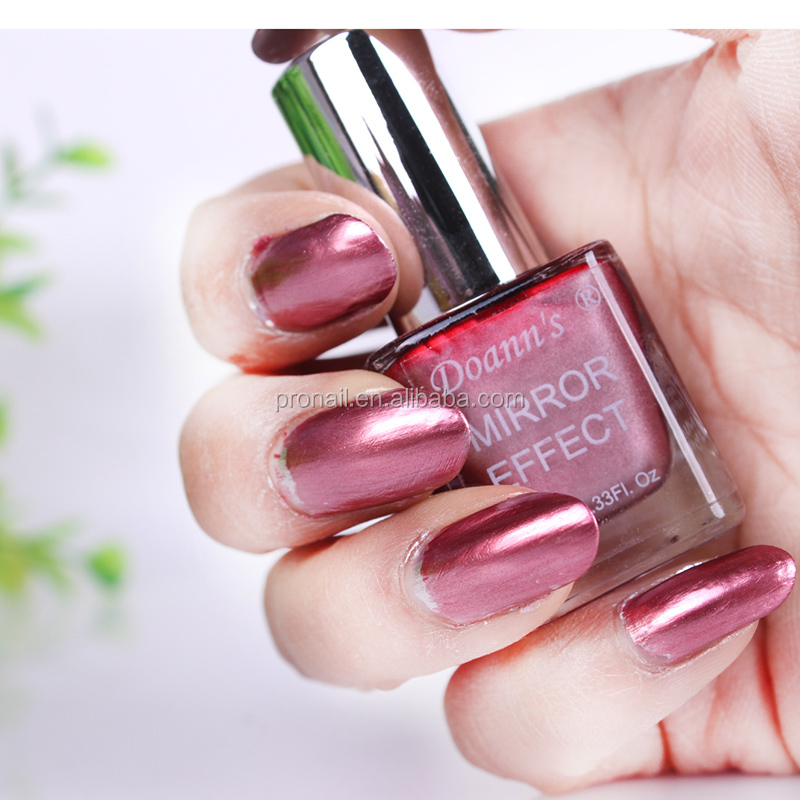 Metallic Mirror Nail Polish 5 Colors For Choice - Buy Mirror Effect ...