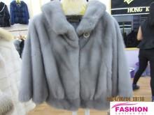 Light gray mink fur coat / Small section mink fur coats / real fur coats for girls