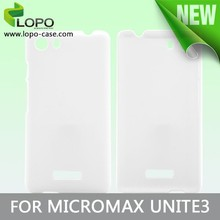 low price for 3D sublimation blank cell phone covers/case for MICROMAX UNITE3