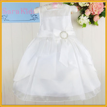 Whole sale price children fancy dress white color baby girl evening dress