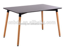2015 Modern Cheap office Side long Wood MDF Dining Table With MDF Top