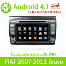 Best Selling LSQ Pure Android 4.1 car stereo for FIAT 2007-2011 Bravo with Canbus/3G/Wifi/Radio/DVD/BT/GPS/SWC/MP4/5