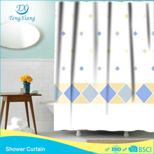 hook less polyester fabric diamond curtains printed