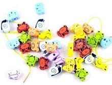 piedra del modelo animal de madera laberinto para los niños juguetes educativos