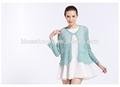 señoras prendas de punto hecho a mano crochet la rebeca del suéter de algodón 100% para la primavera verano 1128
