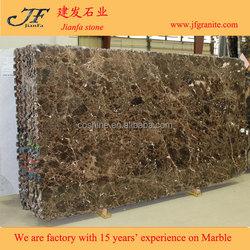 Natural Polished Dark Emperador Cultured Marble Slab Building Materials