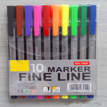 0.4mm Fancy fine line pen drawing pen 10 colors packed