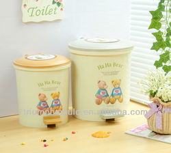 Foot hygienic barrel plastic dustbin stamped bins