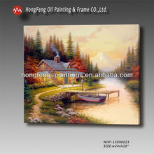 Beautiful handmade Thomas rural wall decorative canvas oil painting