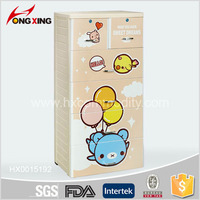 5 layer animal bear printing Plastic Cabinet Closet Drawer & Cupboards