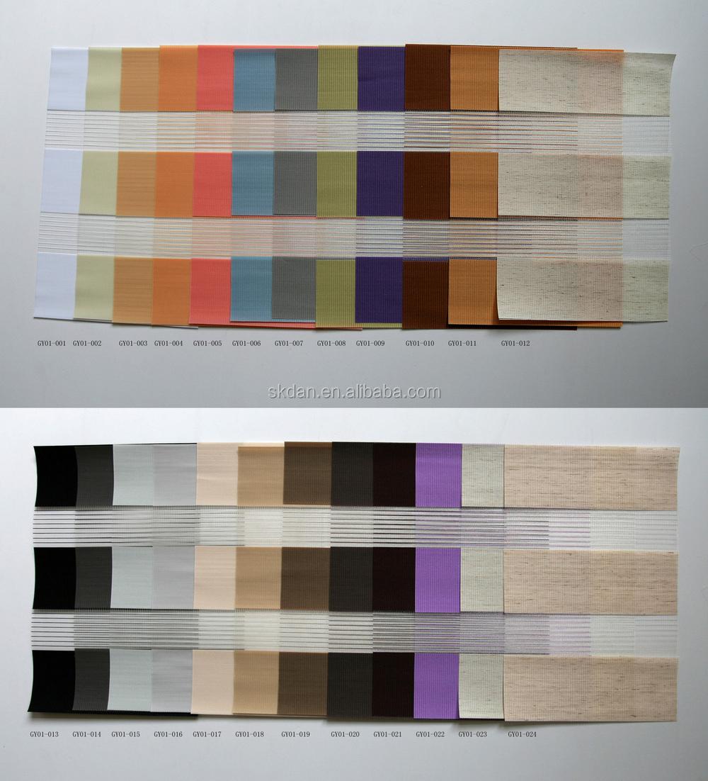 Warm te koop voor modieuze zebra tinten/dubbele stof roller ...