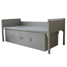 dormitory single metal bed in school furniture in good quality cold rolled steel plate