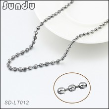 Necklace jewelry stainless steel olive shape ball chain for wholesale