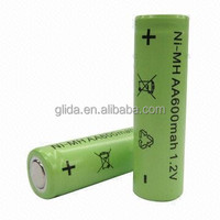 Rechargeable Ni-MH AA 600mAh battery 1.2v