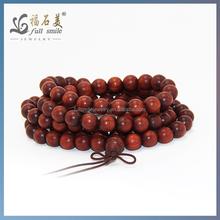 Factory Price 8mm Red Sandalwood Buddhist Buddha Wood Bead Necklace Women Japa Malas