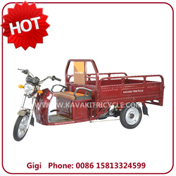 Wholesale high quality 20Ah48V/60V adult three wheel electric cargo tricycle made in China