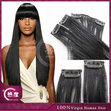 2015 SUPER HOT SELLING fashion weaving 8 inch clip-in human hair import clip on hair extensions walmart hair