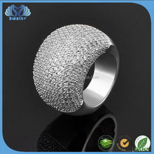 Alibaba In Russian CZ Stone Ring Silver Jewelry Party